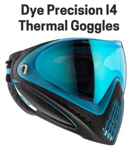 Dye Precision I4 Thermal Goggles - The best field of vision paintball mask
