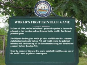 World's first paintball game