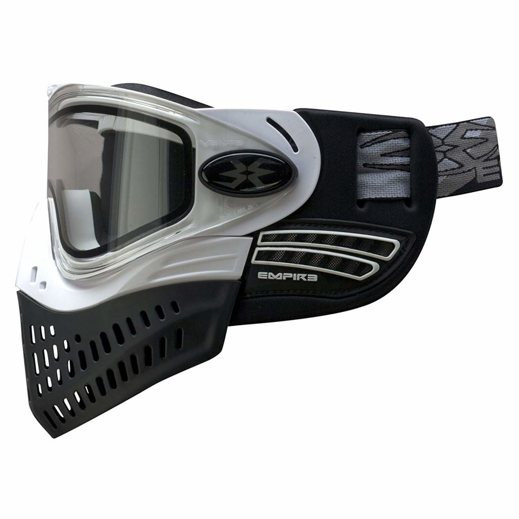Empire E-Flex paintball mask with collapsible bottom